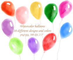 Watercolor balloon clipart watercolour balloons clipart hand