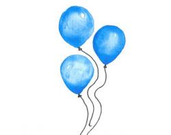 Digital Glitter Balloon Clipart Sparkly Glittery Balloons