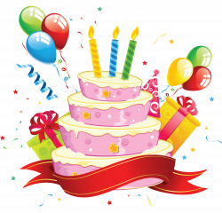 Wondrous Design Ideas Clipart Birthday Cake PNG HD And Balloons ...