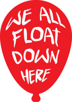 We All Float Down Here vinyl decal Stephen King IT Horror Remake ...