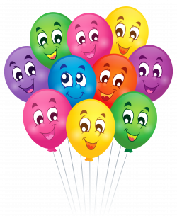 Balloons with Faces Cartoon PNG Clipart Picture | Gallery ...