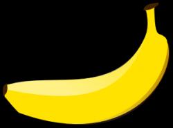 Banana Clip Art at Clker.com - vector clip art online, royalty free ...