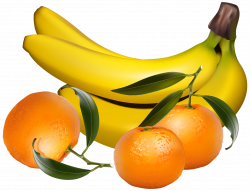 Bananas and Tangerines PNG Clipart - Best WEB Clipart