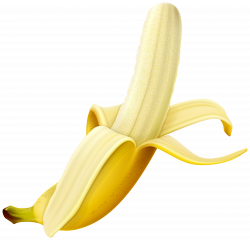 Peeled Banana PNG Clipart Image | Gallery Yopriceville - High ...