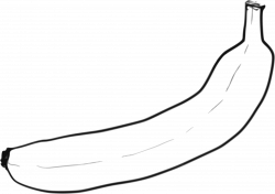 Clipart - Single line art Banana