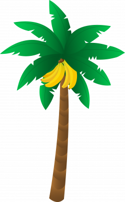 Banana Tree Free Clipart