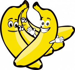 Banana With Face Clipart