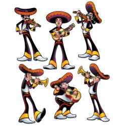 Pack of 72 Cinco de Mayo Fiesta Mexican Mariachi Band Party Cutout ...