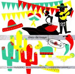 Fiesta Cinco De Mayo: Digital Clip Art Pack (300 dpi) Flamenco ...