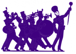 Marching Band Purple On White Clip Art at Clker.com - vector clip ...