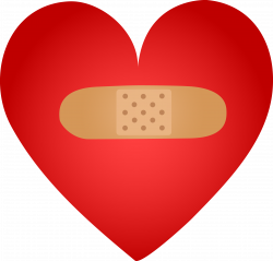 Healing Heart With Band Aid - Free Clip Art