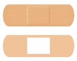 Adhesive Bandage Exclamation Mark vector art illustration ...