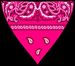 Pink Bandanna Clip Art at Clker.com - vector clip art online ...