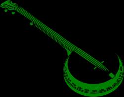 Green Banjo Clip Art at Clker.com - vector clip art online, royalty ...