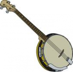 Banjo Clip Art - Royalty Free - GoGraph