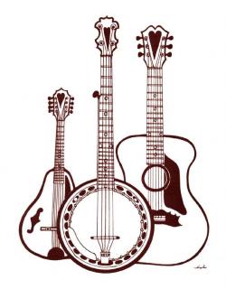 bluegrass_trio.jpg 600×770 pixels | silouttes | Pinterest | Clipart ...