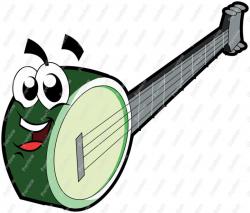 Banjo Character Clip Art - Royalty Free Clipart - Vector Cartoon Drawing