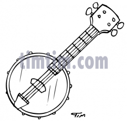 Free drawing of Banjo BW from the category Music & Bands - TimTim.com