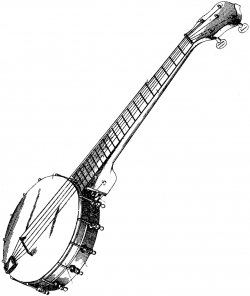 Rendered View of a Banjo | ClipArt ETC
