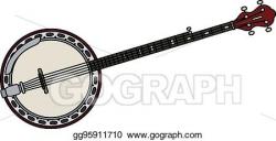 Vector Clipart - Classic five strings banjo. Vector ...