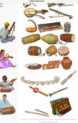 The flute, nagaswaram, veena, gottuvadhyam, thavil, mridangam and ...