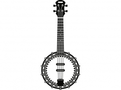 Banjo #1 Musical Instrument Strings Rock Music Guitar Country Folk.SVG .EPS  Instant Digital Clipart Vector Cricut Cutting Download Printable