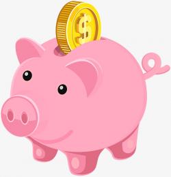 Cartoon Pink Piggy Piggy Bank, Cartoon, Pink, Piggy PNG Image and ...
