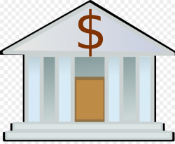 Bank Cartoon clipart - Bank, Money, Home, transparent clip art