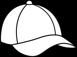 caps images color pages | Baseball Cap Line Art - Free Clip Art ...