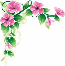Grab This Free Clipart to Celebrate the Summer | Floral border, Clip ...