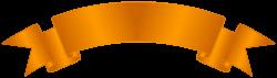 Orange Banner Clip Art PNG Image | Gallery Yopriceville - High ...