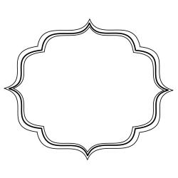 Simple Filigree Scroll Designs | Frame image - vector clip art ...