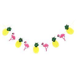 1pcs Tropical Non woven Fabrics Flamingo Pineapple Garland ...