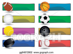 Vector Stock - Sport banners. Clipart Illustration gg64872802 - GoGraph