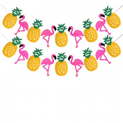 Amazon.com: Tropical Party Decorations Banner Flamingo Pineapple For ...