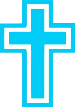 Blue Baptism Cross No Background Fill Clipart