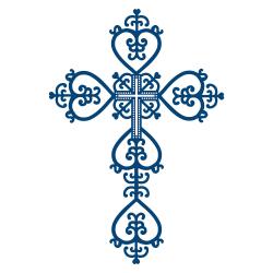 Blue Baptism Cross Clipart