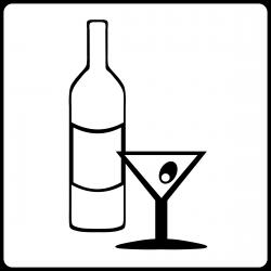 Clipart - Hotel Icon Has Bar