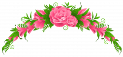 Pink Flowers and Roses Element PNG Clipart | Flowers | Pinterest ...