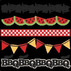 BBQ Borders SVG scrapbook cut file cute clipart files for silhouette ...
