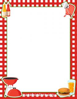 BBQ Border: Clip Art, Page Border, and Vector Graphics