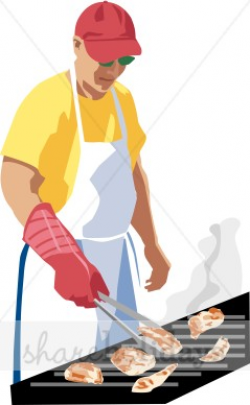 Mans Gas Grill Clipart | Fathers Day Clipart & Backgrounds