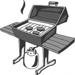 BBQ Clip Art | bbq butane bbq grill bw a public domain png image ...