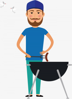 Vector Barbecue Man, The Man, Barbecue, Food PNG and Vector for Free ...