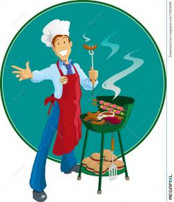 Barbeque Man Illustration 15564698 - Megapixl