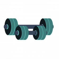 Green Barbells Clipart transparent PNG - StickPNG