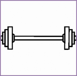 6 Bar Weights Clipart - Work Out Picture Media - Work Out Picture Media