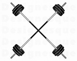 Barbell clipart | Etsy