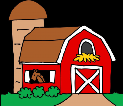 Red barn clipart clipart red farm pencil and in color drawn drawn ...