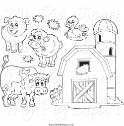 Free Farm Animal Black And White Clipart